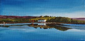 Hollingworth Lake Littleborough giclee print acrylic painting