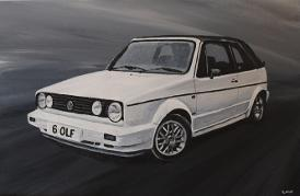 VW Golf Acrylic Painting