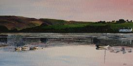 Hollingworth Lake Littleborough Acrylic Painting
