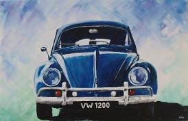 VW 1200 beetle acrylic painting
